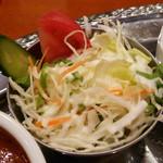 タンドゥール - セットのサラダ