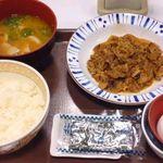 すき家 - 牛皿、豚汁定食&のり♪~