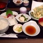 和の食 じゅあん - 今週の和御膳(山菜の天ぷら)