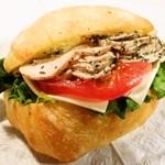 HOKUO - 料理写真:たっぷり野菜とバジルチーズサンド 通常329円が164円
