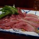 まるまん山羊料理 - やぎさしみ¥1200(Tax8%)
