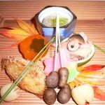 こおろぎ楼 - 料理写真:秋を演出した前菜