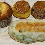 吟遊詩人 - 蜂蜜マフィン、カボチャのスコーン、チョコチップスコーン、えだ豆
