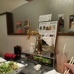 農園レストラン みやもとファーム - 各席にあるビールサーバー