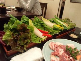 農園レストラン みやもとファーム - 野菜セット ボリュームありました。