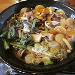 風の庵 - きのこ蕎麦(温)¥1000@'13.10.中旬