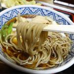 そば処 丸福 - 2014.04あいのりそば(980円)麺