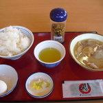 川西みなみ食堂 - 【朝定食】たまごかけごはん定食 ¥290 (味噌汁→豚汁で¥340)