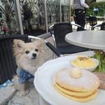 ドゥ・アンジュ - ランチセットのパンケーキ