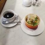 メゾン ド ハヅキ - 土日祝ランチAデザートのヌガーグラッセとコーヒー