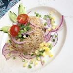 サムロータイレストラン&カフェ - ガパオリーブ(980円)これにスープが付きます。2014年5月
