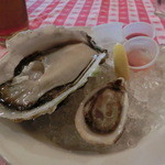 グランド・セントラル・オイスターバー&レストラン - 岩牡蠣春香Lサイズ(島根)とクッシ・オイスター(カナダ)