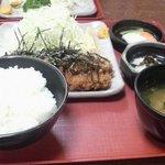 とん楽 - 納豆かつ定食(ロース)