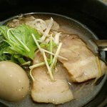 かぶき屋 - 熟玉醤油ラーメン(名古屋コーチン