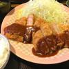 とんぴん舎 - 料理写真:特上厚切りロースカツ&ヒレカツ定食