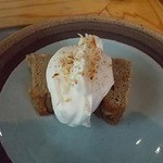 香珈 Beans&Cafe - 焦がしバナナの珈琲ケーキ