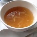 27018805 - ランチコースのフカヒレ入りスープ