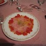 稲取リゾート - 金目鯛のカルパッチョです。