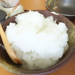 天ぷら徳家 - 徳家定食 740円 食べ放題 大根おろし 【 2014年5月 】