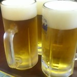 徳翔楼 - 乾~杯! 生ビール