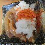 天ぷら徳家 - 徳家定食 740円 いかの塩辛と大根おろしに唐辛子を掛けて 【 2014年5月 】