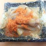 天ぷら徳家 - 徳家定食 740円 いかの塩辛唐辛子を掛けて 【 2014年5月 】