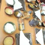 天ぷら徳家 - 徳家定食 740円 ご飯と味噌汁 食べ放題 4人分 【 2014年5月 】