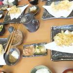 天ぷら徳家 - 徳家定食 740円 天麩羅 1回目 鮭・玉ねぎ 4人分 【 2014年5月 】