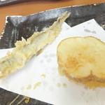 天ぷら徳家 - 徳家定食 740円 天麩羅 2回目 ししゃも・じゃがいも 【 2014年5月 】
