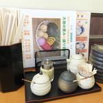 天ぷら徳家 - テーブルに上に 2 【 2014年5月 】