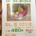 天ぷら徳家 - メニュー 4 【 2014年5月 】