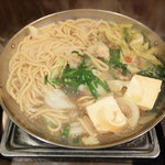元祖博多麺もつ屋 - 麺もつ鍋 醤油味