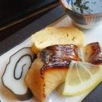 焼き魚ともずく