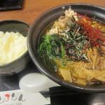 とろとん - 2014/4 魚介豚骨スープ麺とチーズかけ御飯