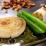潜龍 - お野菜様達も綺麗に焼かれればシュワシュワ新幹線間違いなし!!