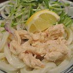 丸亀製麺 - 鶏塩ぶっかけ アップ