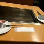 鶴橋風月 - テーブルのセット