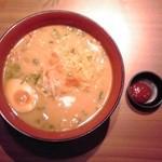 和民 - 濃厚海老味噌ラーメン:590円+税8%【2014年4月撮影】