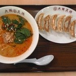 大阪王将 イオンモール秋田店 - 担々麺+餃子(6個)セット:920円(税込)【2014年4月撮影】