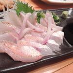 勘介 - 【ノドグロの刺身@600円】肉厚で美味しい♪