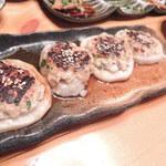 勘介 - 【れんこんの肉詰め@100円】少し甘めのタレも美味しい♪