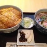 赤羽屋 - カツ丼セット(カツ丼×豆うどん)