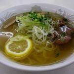前沢サービスエリア(下り線)スナックコーナー - 牛タンねぎ塩ラーメン\720円