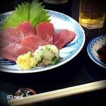 天ぷら亭 - 鹿刺し560円。ルイベっぽい感じ。
