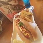ライダーズカフェ ルート750 - 松牛ホットドッグ