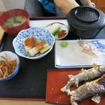 ドライブイン五子 - 料理写真:川魚定食