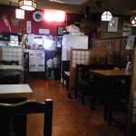 Wakatake - 昭和な店内です。