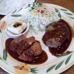 Sunorasukaru - 140419ヒレカツとハンバーグ950円