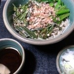 ときん亭 - 冷やし山菜そば¥540