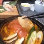 焼き肉 やません - チョウザメのコラーゲントマト鍋